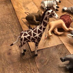 Safari tree ornaments and ribbon